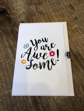 You are Awesome Thank you Card