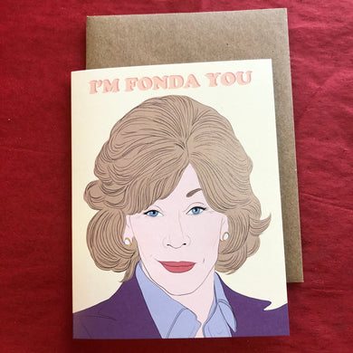 Fonda You Jane Fonda Valentines Card