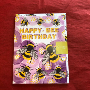 Happy Bee Birthday Card