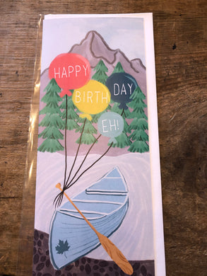 Happy Birthday Eh! Canoe Balloons Card