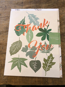 Leaves Thank you Card