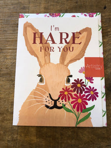 Rabbit, I'm Hare for you Greeting Card