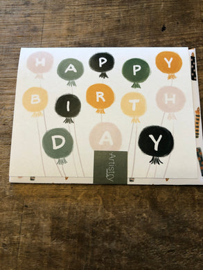 Happy Birthday Baloons Card