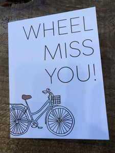 Wheel Miss You - Going Away Card