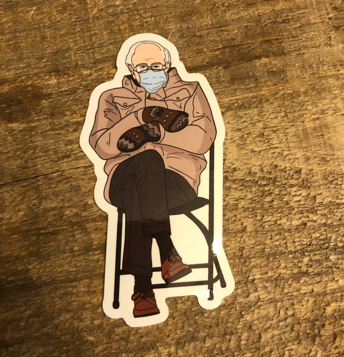 Bernie Mittens Sticker