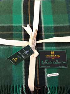 Green & Black Plaid Wool Blanket
