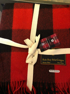 Red & Black Wool Blanket