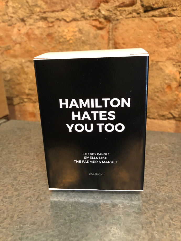 Hamilton Hates You Too Apple Pie Scented Candle #HHYT
