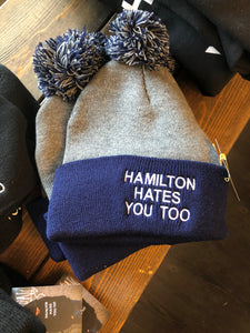 Hamilton Hates You Too Toque Grey & Navy #HHYT