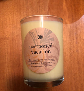 postponed vacation - Covid Candle Collection