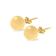 Gold Ball Stud Earring