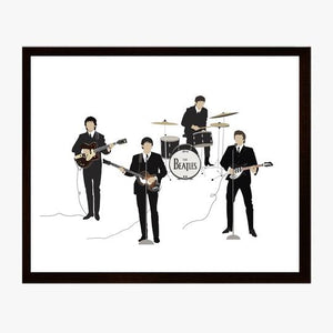 Beatles - Bandstand Poppermost Print