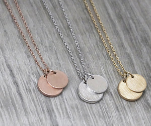 Dual Medallion Necklaces (Various Colours)