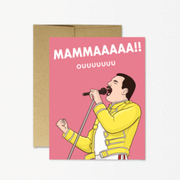 Mammaaaaa!! Freddy Mercury - Greeting Card