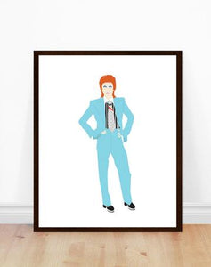 David Bowie - v2- Poppermost Print