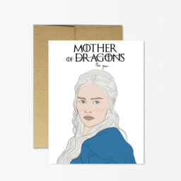 Mother of the Year/Dragons Greeting Card