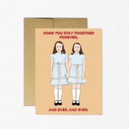 The Shining Twins Forever and Ever Wedding card