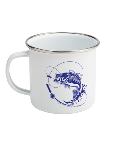 Catch the Fish! Enamel Mug 10oz