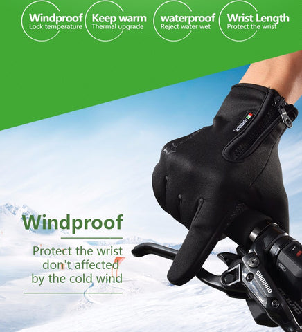 Men/Women Windproof Warm Cycling Gloves