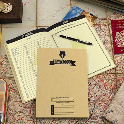 Travelogue with 8 Mini Scratch World Maps