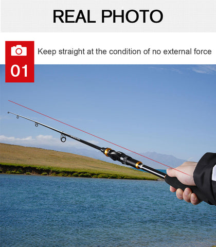 Carbon  Portable Telescopic Fishing Rod
