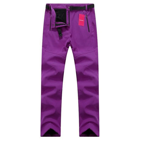 Women Thick Warm Fleece Softshell Pants (Waterproof & Windproof)