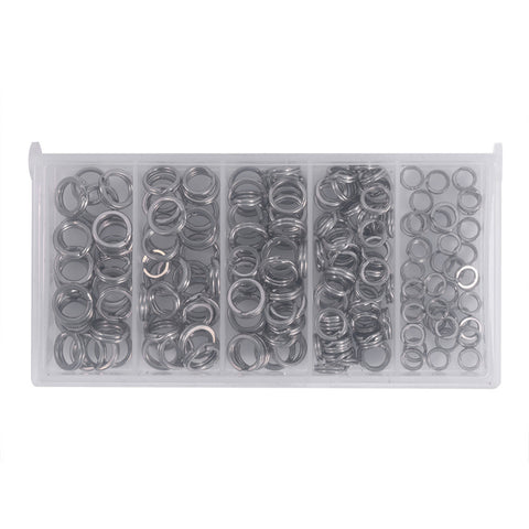200PCS Stainless Steel Fishing Split Rings