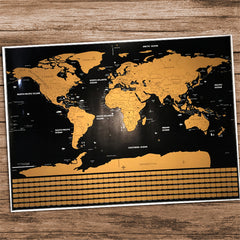 Image of Deluxe Edition Scratch World Map (2 sizes)
