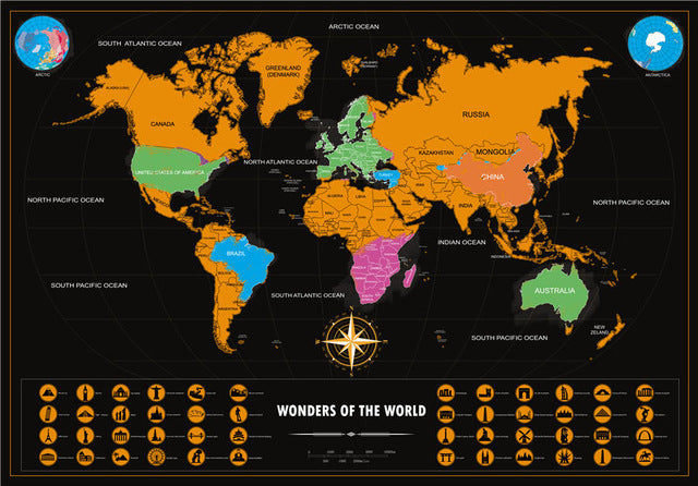 Deluxe edition scratch world map 2 sizes adventure ing deluxe edition scratch world map 2 sizes gumiabroncs Gallery