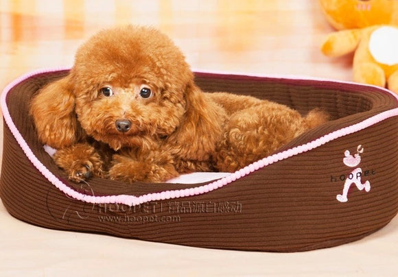 Pink Pet Bed with Double Sided Sofa Cushion