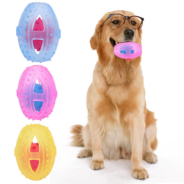 Eco-Friendly Rubber Chew Ball, Bite Resisitant And Teeth Cleaning - DogGiftShop