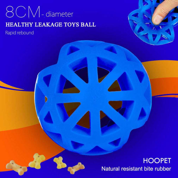 1PC Eco-friendly Natural Rubber Pet Dog Toys Leakage Ball Hollow Out Pet Feed Interacting Training Ball Dogs Training Palying, doggiftshop.com