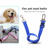 Blue Adjustable Car Safety Belt, safety belts, DogGiftShop, DogGiftShop