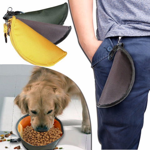 Dog's Feeders Bowl Waterproof Outdoor Portable Folding Pet Cat Food Bowl Dog Bowl For Dog's Pet Supplies