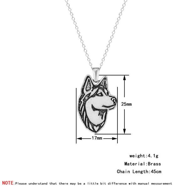 Siberian Husky Pendant Necklaces For Women Men Statement Dog Animal Tiffan Jewelry Friendship Homme Femme Bijoux