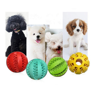 2017 New Funny 7cm Pet Chewing Toy Nontoxic Rubber Dog Cat Tooth Cleaning Ball Bite Resistant Puppy Interaction Training Ball