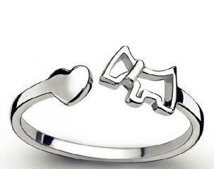 """Love Dogs"" Silver Ring With Astonishing Design For Dog Lovers, , DogGiftShop, DogGiftShop"