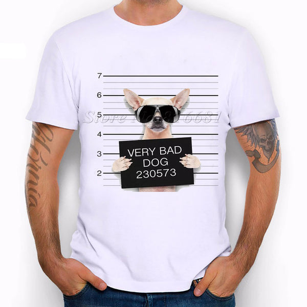 "Unique Men T-shirts ""Bad Dog"" Print, , DogGiftShop, DogGiftShop"