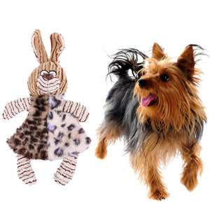 Pet Dog Chew Toys Cute Rabbit Shape Pet Dog PV Plush Toy Pet Puppy Chew Bite Sound Squeak Toy For Dog's Supplies