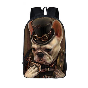 Cool  Animal Backpack Dog Rottweiler Pug Men Women Daily Backpack Boys Girls School Backpacks Cat Punk School Bags