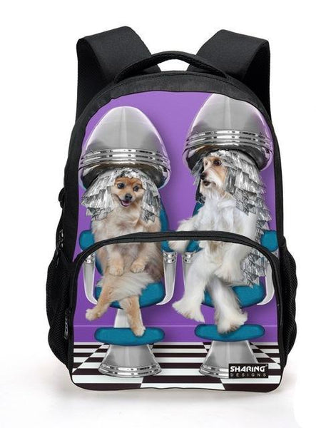 Cool 3D Animal Print Backpack For Teens And Children, , DogGiftShop, DogGiftShop