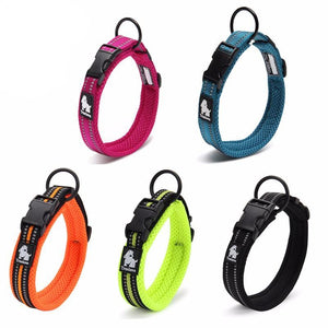 High Quality Adjustable Reflective Nylon Collars, , DogGiftShop, DogGiftShop