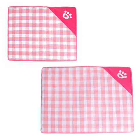 Summer Dog Mat Removable Zipper Soft Cooling Mat for Small Dog Puppy Cats Portable Dog Kennel Bed Pet Supplies M/L