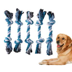 5Pcs Puppy Dog Pet Toys Biting Braided Cotton Rope Knot Bone Chew Toy for Dog Pets Dogs Training Bait Toys - DogGiftShop