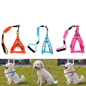 Nylon Dog Harness Pet Collar Dog Lead Leashes Walking Harness for Small Medium Dogs Adjustable S M L 3 Colors