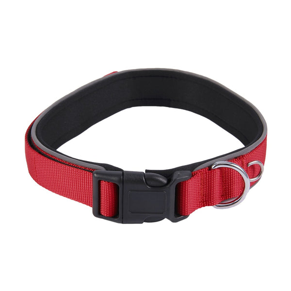 Reflective Dog Collar Durable Heavy Duty Adjustable Mesh Padded Pet Dog Collar For Pet Dog For All Weather