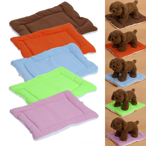 Warm Soft Fleece Pet Dog Cat Bed Mats Cushions Indoor Air Conditioning Pad for Small Puppy Cat Dogs Pet Supplies