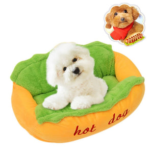 "Cute ""Hot Dog"" Shaped Bed, Soft And Cosy!, , DogGiftShop, DogGiftShop"
