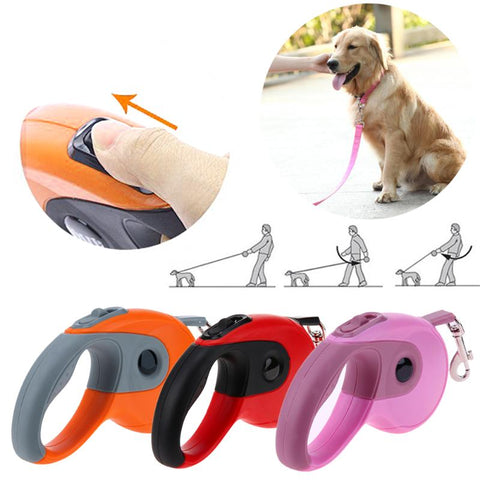 3M/5M Retracable Traction Rope Leash For Small & Medium Sized Dogs, , DogGiftShop, DogGiftShop