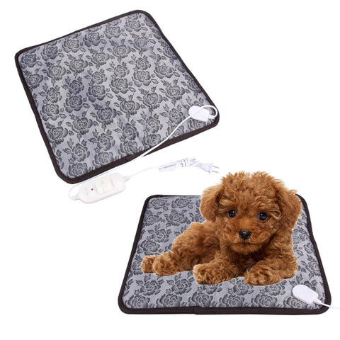 110V/220V Pet Dog Mat Waterproof Electric Heating Pad Mat Heater Bed Warmer Blanket for Dog Puppy Winter Pet Bed Random sent, DOG GIFT SHOP, DOGSGIFTSHOP,